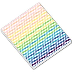 Pastel Gradient Rainbow Chevron Small Memo Pads