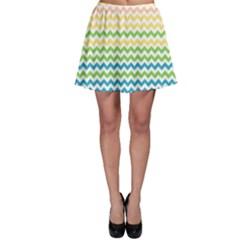 Pastel Gradient Rainbow Chevron Skater Skirts