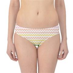 Pastel Gradient Rainbow Chevron Hipster Bikini Bottoms