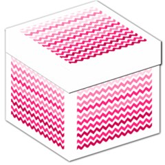 Pink Gradient Chevron Large Storage Stool 12