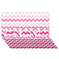 Pink Gradient Chevron Large #1 MOM 3D Greeting Cards (8x4)