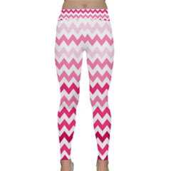 Pink Gradient Chevron Large Yoga Leggings