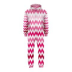Pink Gradient Chevron Large Hooded Jumpsuit (Kids)