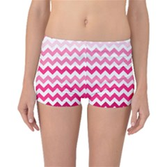 Pink Gradient Chevron Large Boyleg Bikini Bottoms