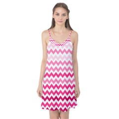 Pink Gradient Chevron Large Camis Nightgown