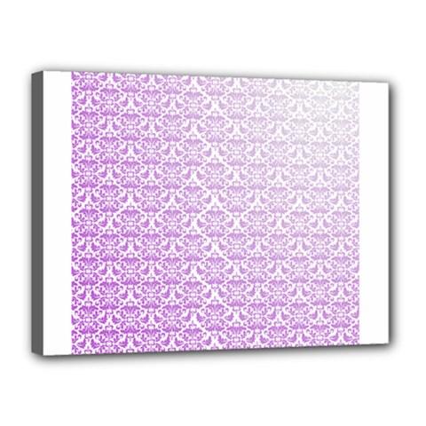 Purple Damask Gradient Canvas 16  x 12
