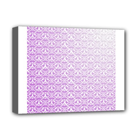 Purple Damask Gradient Deluxe Canvas 16  x 12