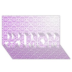 Purple Damask Gradient #1 Mom 3d Greeting Cards (8x4)