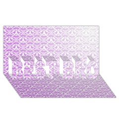Purple Damask Gradient Best Bro 3d Greeting Card (8x4)