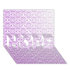 Purple Damask Gradient Hope 3d Greeting Card (7x5)