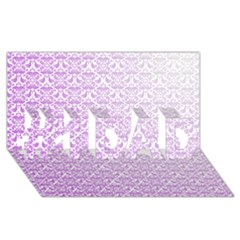 Purple Damask Gradient #1 Dad 3d Greeting Card (8x4)