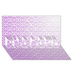 Purple Damask Gradient Engaged 3d Greeting Card (8x4)
