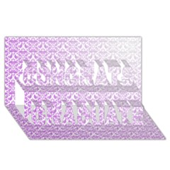 Purple Damask Gradient Congrats Graduate 3D Greeting Card (8x4)