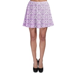 Purple Damask Gradient Skater Skirts