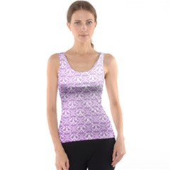 Purple Damask Gradient Tank Tops