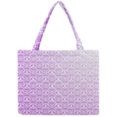 Purple Damask Gradient Tiny Tote Bags