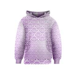 Purple Damask Gradient Kid s Pullover Hoodies
