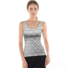 Gray Damask Tank Tops