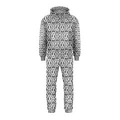 Gray Damask Hooded Jumpsuit (kids)