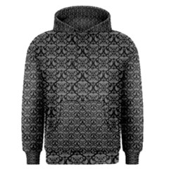 Silver Damask With Black Background Men s Pullover Hoodies
