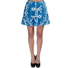 Birds And Olive Branch Circle Icon Skater Skirts