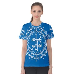 Birds And Olive Branch Circle Icon Women s Cotton Tees
