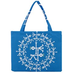 Birds And Olive Branch Circle Icon Tiny Tote Bags
