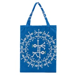 Birds And Olive Branch Circle Icon Classic Tote Bags
