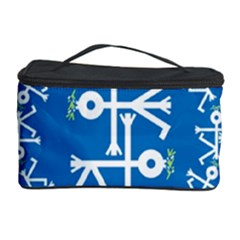 Birds And Olive Branch Circle Icon Cosmetic Storage Cases