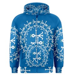 Birds And Olive Branch Circle Icon Men s Zipper Hoodies