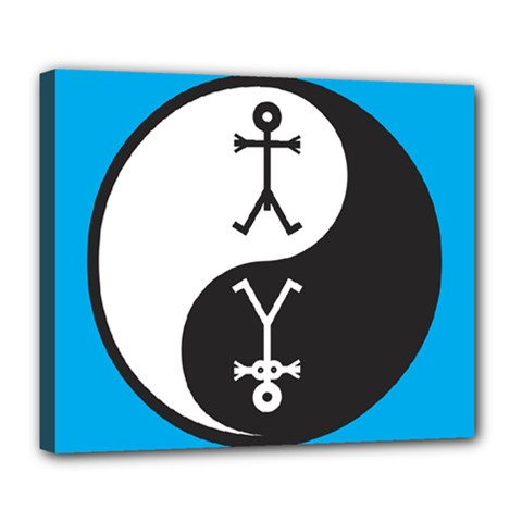 Yin And Yang Icon  Deluxe Canvas 24  x 20