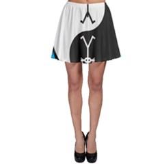 Yin And Yang Icon  Skater Skirts