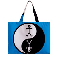Yin And Yang Icon  Zipper Tiny Tote Bags