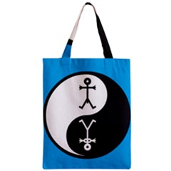 Yin And Yang Icon  Zipper Classic Tote Bags