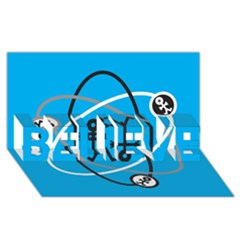 Life Icon  BELIEVE 3D Greeting Card (8x4)