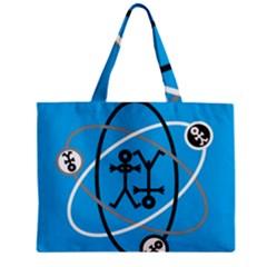 Life Icon  Zipper Tiny Tote Bags
