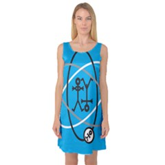Life Icon  Sleeveless Satin Nightdresses