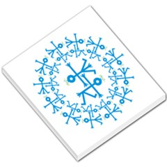 Blue Birds And Olive Branch Circle Icon Small Memo Pads