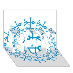 Blue Birds And Olive Branch Circle Icon BOY 3D Greeting Card (7x5)