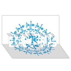 Blue Birds And Olive Branch Circle Icon Best Sis 3d Greeting Card (8x4)