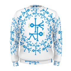 Blue Birds And Olive Branch Circle Icon Men s Sweatshirts