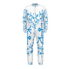 Blue Birds And Olive Branch Circle Icon OnePiece Jumpsuit (Kids)