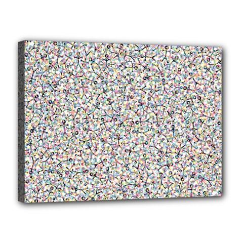 Crowd Icon Random Cmyk Canvas 16  x 12