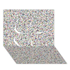 Crowd Icon Random Cmyk Clover 3D Greeting Card (7x5)