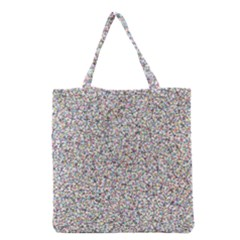 Crowd Icon Random Cmyk Grocery Tote Bags