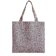 Crowd Icon Random Cmyk Zipper Grocery Tote Bags