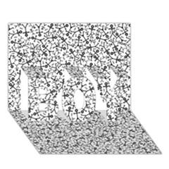 Crowd Icon Random BOY 3D Greeting Card (7x5)