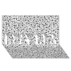 Crowd Icon Random Best Bro 3d Greeting Card (8x4)