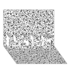 Crowd Icon Random HOPE 3D Greeting Card (7x5)