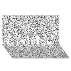 Crowd Icon Random SORRY 3D Greeting Card (8x4)